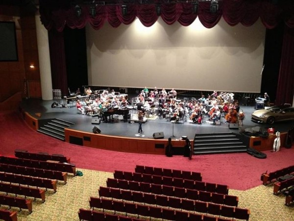 The GSO rehearsing with Hilary Kole for Bond and Beyond ! — at Westover Church.