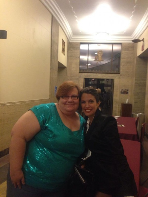 With fan Jan Zimmerman at Harrisburg Symphony Judy Garland Tribute Apr 2014