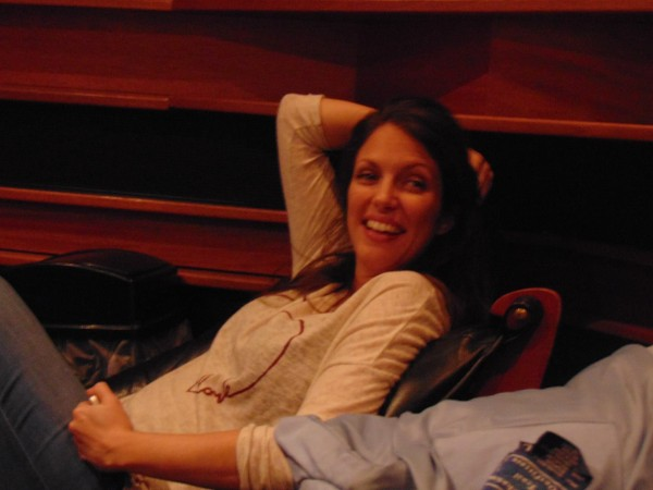 Recording sessions Judy Garland project..finally some time to relax.. (Photo by my guest Kimberly Loeffler-Jan 8, 2015)