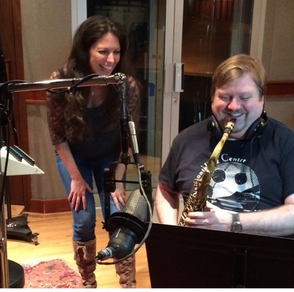 In the studio laying down the sax track with Joel Frahm