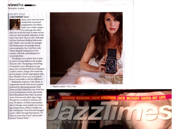 Jazz Times magazine feb 2015 review of A Self-Portrait