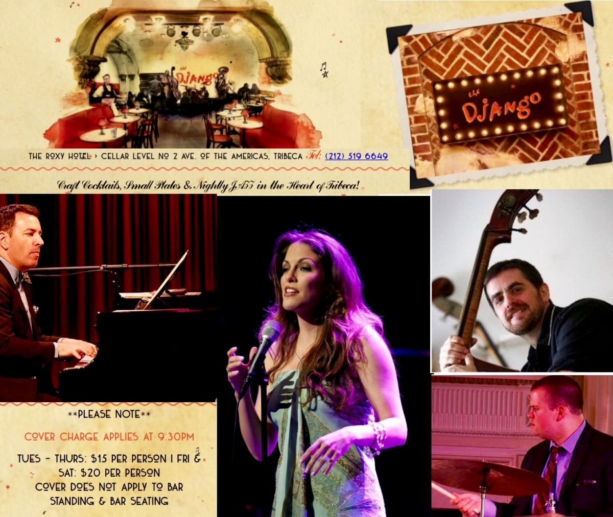 Hilary Kole & her Band (Matt Fries on piano, Paul Gill on Bass, Aaron Kimmel on drums) perform at The Django at the Roxy Hotel