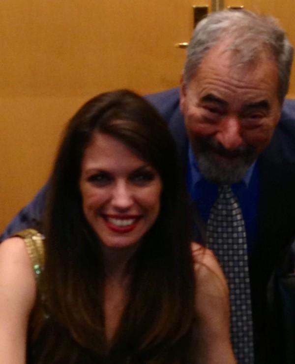 Hilary Kole with Ron Forman WKRB FM