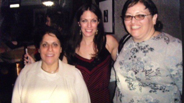 With fans Debra ( left) and Giglia (right) after a gig -2011