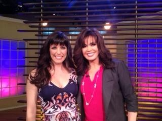 With Marie Osmond on set of her TV show on which I appeared --aired on July 23 2013