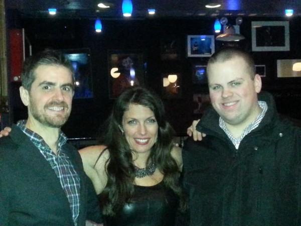 With my band mates Bassist Paul Gill (left) and DrummerAaron Kimmel (right) at Iridium Jazz Club Feb 10 2014