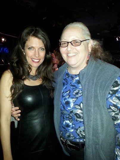 With friend and fan Giglia Marvulli at Iridium Feb 10