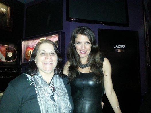 With friend and fan Debra Miller at Iridium Feb 10