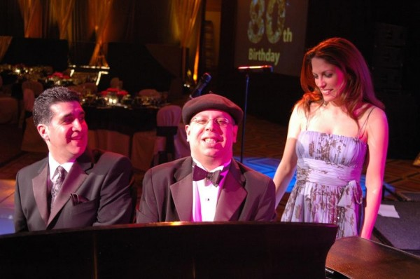 With my pal vocalist Jerry Costanzo at a private event in Tucson AZ in 2010 (That's Isaac Ben Ayala on piano)