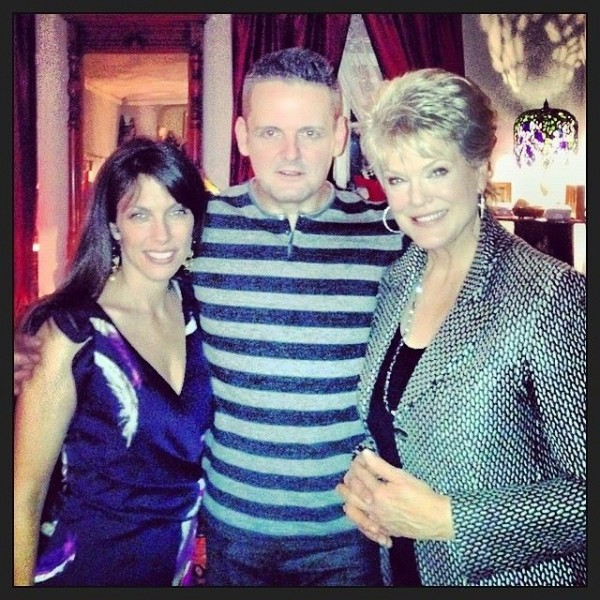 With my friends, Tom Estey (my favorite PR man - tomestey.com) and Gloria Loring, another one of his many clients