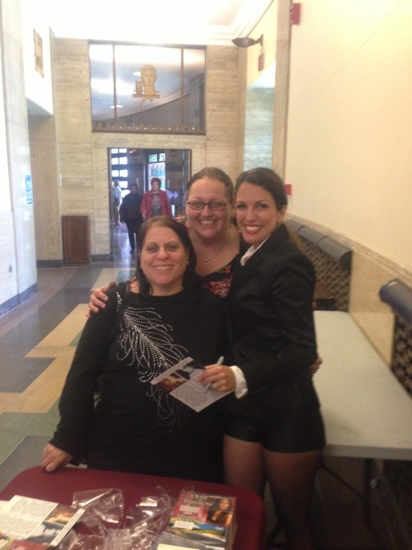 With NYC friends & supporters Debra & Giglia at Harrisburg Symphony Judy Garland Tribute Apr 2014