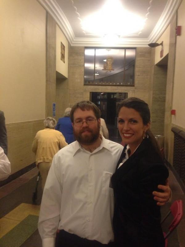 With fan Josh R a volunteer at Harrisburg Symphony Judy Garland Tribute Apr 2014