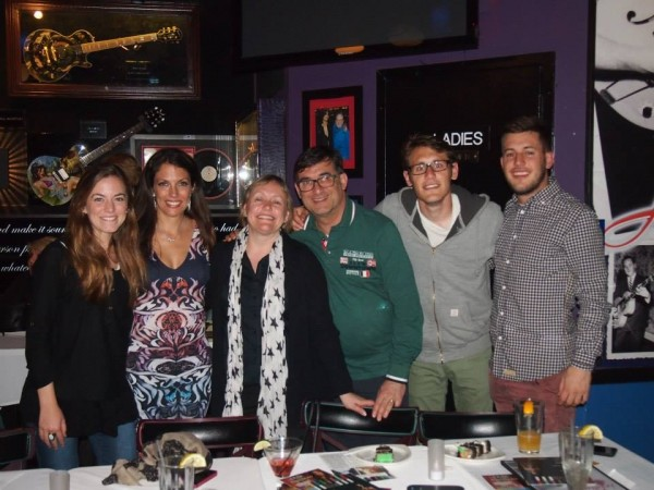 With fans at Iridium Jazz Club 4/30/2014