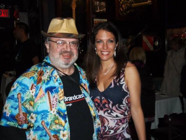 With a fan at Iridium Jazz Club 4/30/2014