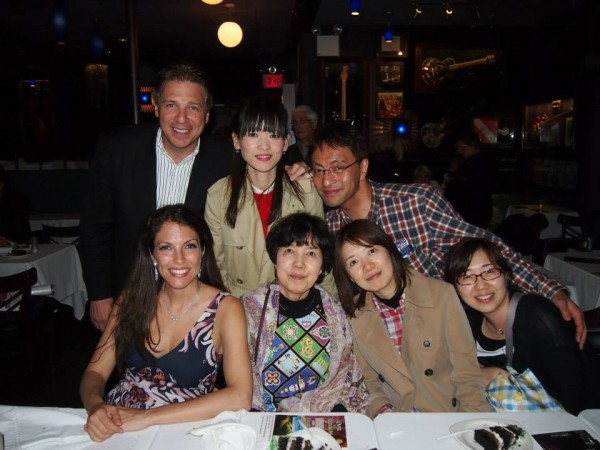 With a family of fans visiting from the Far East & My friend Rob Civile at Iridium Jazz Club 4/30/2014