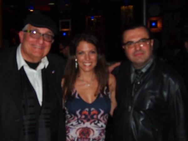 With Avi, my web guy and Fan Gabriel at Iridium Jazz Club 4/30/2014