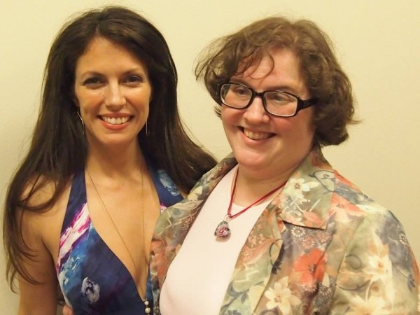 With devoted Judy Garland fan and new friend Kimberly Loeffler, after my performance for the New York Sheet Music Society on June 14 2014