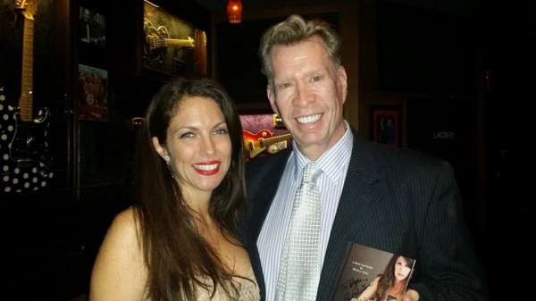 With Composer, pianist, singer, musical director, Bryon Sommers at Iridium- A Self-Portrait CD release party-- oct 9 2014
