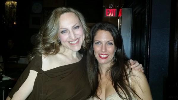 With my good friend, vocalist, Ellen Bullinger at Iridium- A Self-Portrait CD release party-- oct 9 2014