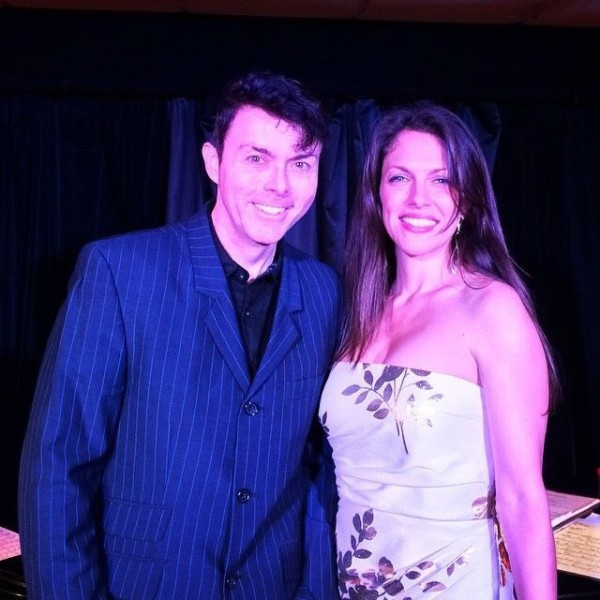 With Richard Barone, acclaimed recording artist, performer & producer after my first set at Cafe Noctambulo at Pangea — Oct 8 2014