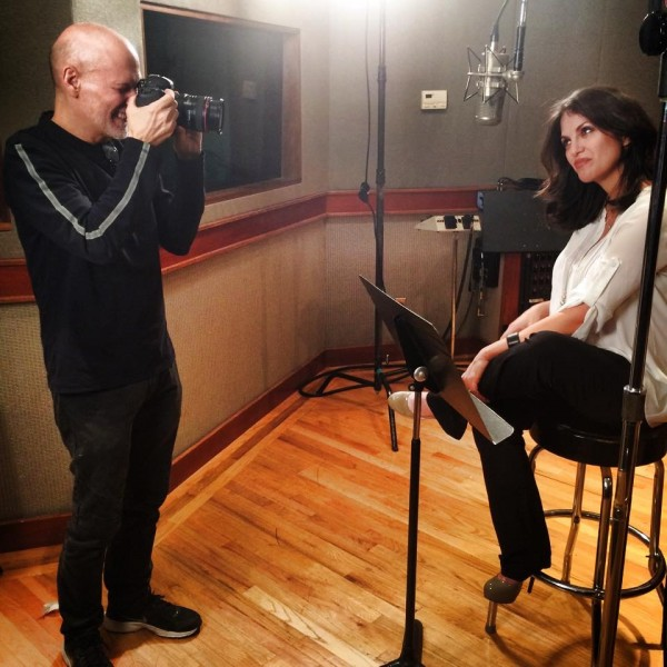 Bill Westmoreland photographing Hilary at East Side Sound recording studio Mar 9, 2015