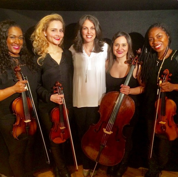 "The talanted string Quartet for ""Over the Rainbow"""
